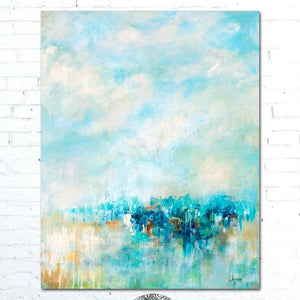 Blue Abstract Painting by Alexandra Nicole