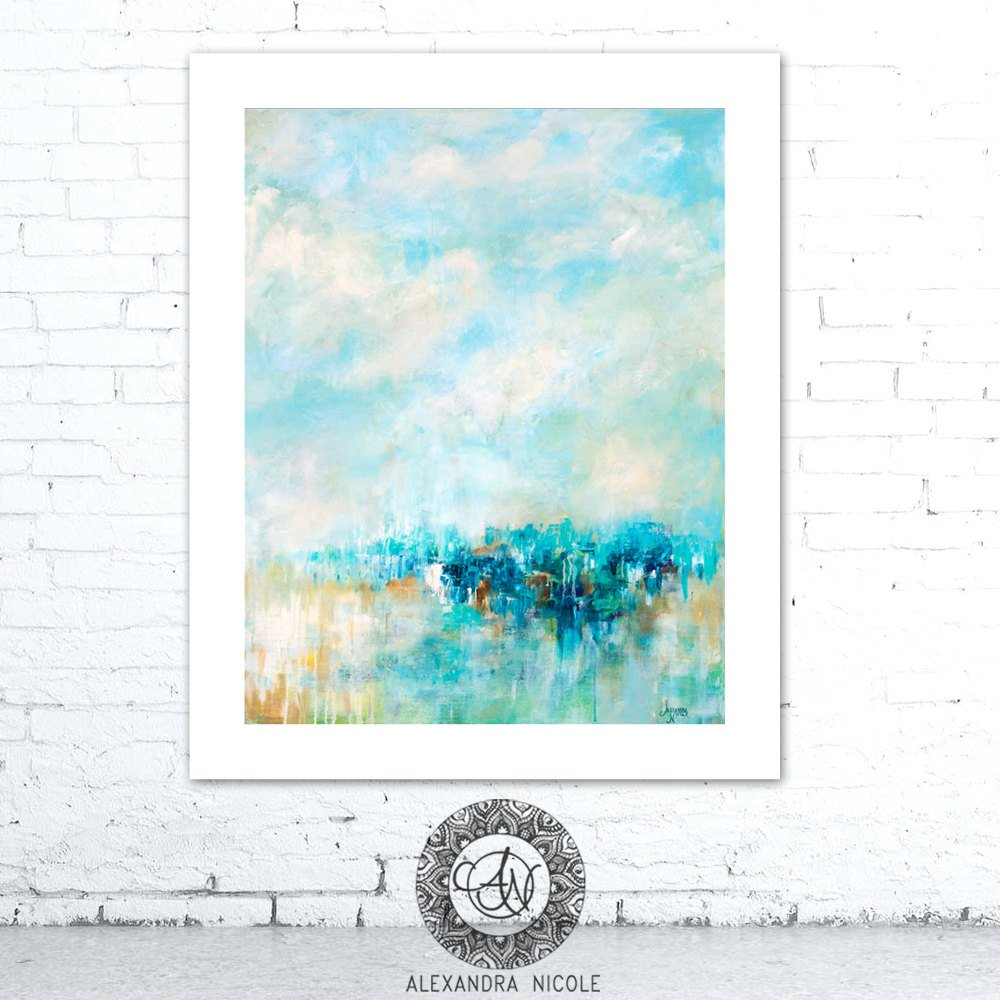 Coastal Blue Abstract Art Decor by Alexandra Nicole