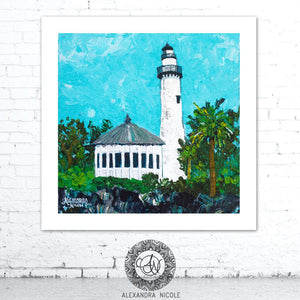 Light House Painting by Alexandra Nicole
