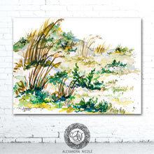 Load image into Gallery viewer, Sea Oats Coastal Landscape Print by Alexandra Nicole