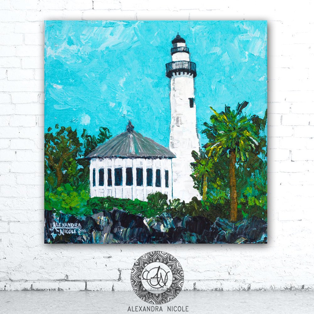 St. Simons Lighthouse Art Print