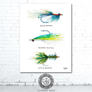 Fly Fishing Gift Art Print by Alexandra Nicole
