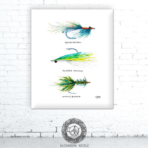 Fly Fishing Art Print by Alexandra Nicole