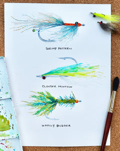 Work in Progress Fly Fishing Gift Art Print by Alexandra Nicole