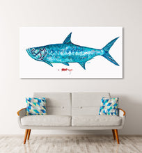 Load image into Gallery viewer, Blue Tarpon Fish Art Print