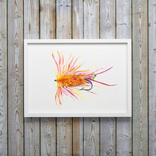 Load image into Gallery viewer, Orange Shrimp Fly Fishing Flies Art Print by Alexandra Nicole