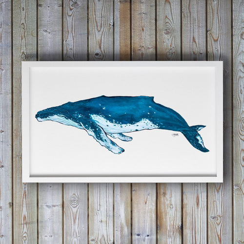 Blue Humpback Whale Art Print