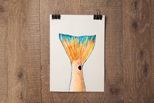 Load image into Gallery viewer, Red Fish Tail Art Print by Alexandra Nicole