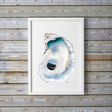 Load image into Gallery viewer, Oyster Painting, Shell Print, Oyster Art, Oyster Shell Print, Coastal Art, Oyster Pictures, Sea Life Art, Beach House Decor, Oyster Prints