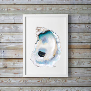 Oyster Painting, Shell Print, Oyster Art, Oyster Shell Print, Coastal Art, Oyster Pictures, Sea Life Art, Beach House Decor, Oyster Prints