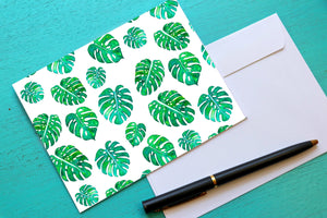 Monstera Leaf Notecards
