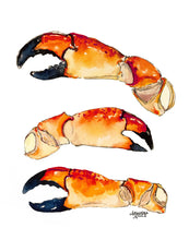 Load image into Gallery viewer, Stone Crab Claw Painting by Alexandra Nicole
