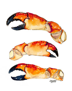 Stone Crab Claw Painting by Alexandra Nicole