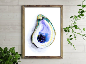 Purple Oyster Print by Alexandra Nicole