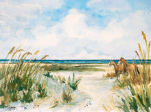 Load image into Gallery viewer, Cumberland Island Horses Watercolor Print