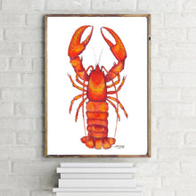 Load image into Gallery viewer, Lobster Watercolor Art Print
