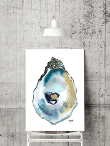 Oyster Shell Print Titled Duxbury with Neutral Tones