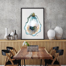 Load image into Gallery viewer, Oyster Watercolor Painting by Alexandra Nicole in Neutral Tones