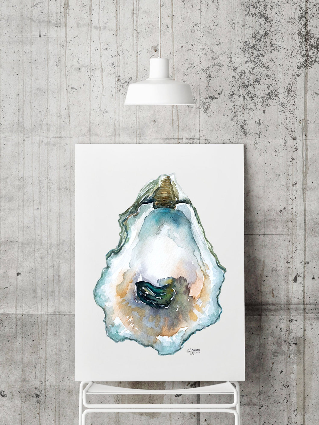 Pepper Grove Oyster Shell Print by Alexandra Nicole