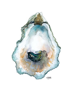 Pepper Grove Oyster Watercolor Painting by Alexandra Nicole