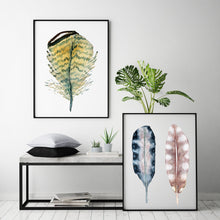Load image into Gallery viewer, Art Print Set, Feather Painting, Discounted Prints, Gallery Wall Art, Feather Art, Watercolor Print Set, Boho Wall Art, Minimalist Wall Art