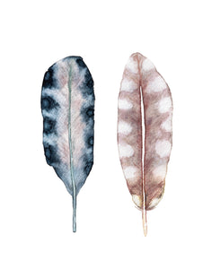 Art Print Set, Feather Painting, Discounted Prints, Gallery Wall Art, Feather Art, Watercolor Print Set, Boho Wall Art, Minimalist Wall Art