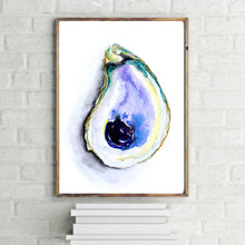 Load image into Gallery viewer, Purple Watercolor Oyster Print by Alexandra