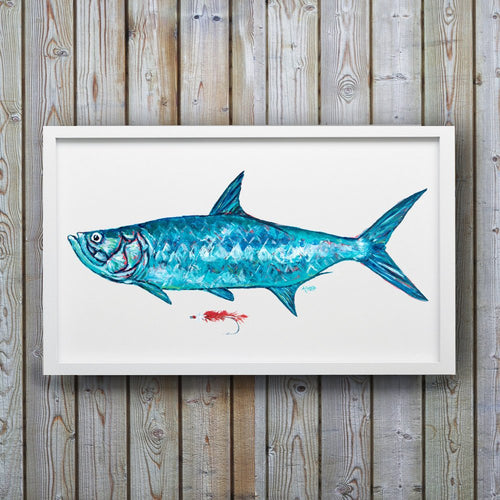 Tarpon Fish Art Print Silver King