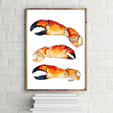 Load image into Gallery viewer, Stone Crab Claw Print
