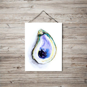 Oyster Shell Art Print Series Oyster 1 by Alexandra Nicole