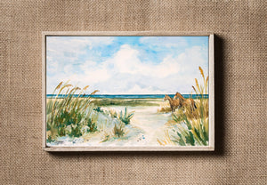 Cumberland Island Watercolor Painting Coastal Landscape