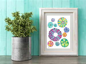 Sea Urchin Art Print by Alexandra Nicole