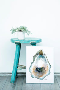 Oyster Watercolor Painting by Alexandra Nicole