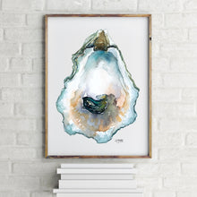 Load image into Gallery viewer, Framed Oyster Watercolor Painting by Alexandra Nicole