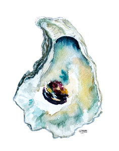 Art Print Set, Oyster Painting, Discounted Prints, Gallery Wall Art, Oyster Art, Coastal Art, Watercolor Print Set, Beach House Decor
