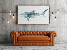 Load image into Gallery viewer, Watercolor Shark Painting Titled Whale Shark