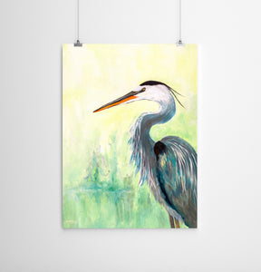 Blue Heron Wildlife Print
