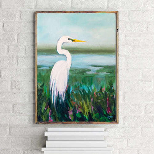 Great Egret Landscape Print