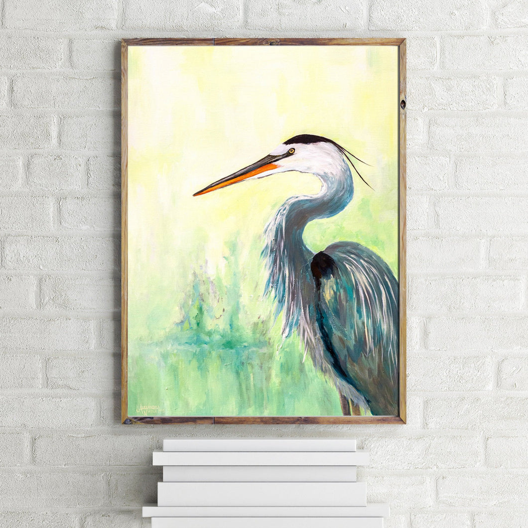 Great Blue Heron Wildlife Print