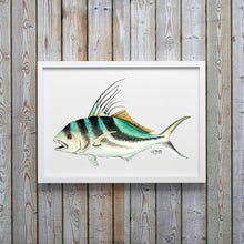 Load image into Gallery viewer, Rooster Fish Watercolor Art Print, Fish Wall Decor, Fish Print, Coastal Art