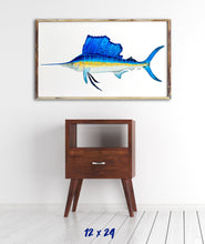 Load image into Gallery viewer, Sailfish Watercolor Art Print, Fish Decor, Coastal Art, Fish Print