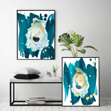 Load image into Gallery viewer, Art Print Sets, Oyster Prints, Oyster Art, Discounted Art Print Set of Two Oyster Paintings Gallery Wall Art