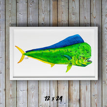 Load image into Gallery viewer, Mahi Mahi Watercolor Art Print, Fish Decor, Coastal Art, Fish Print