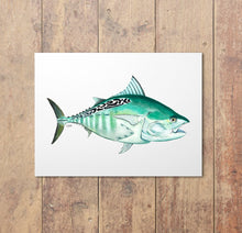 Load image into Gallery viewer, Bonita Watercolor Art Print, Fish Wall Decor, Fish Print, Coastal Art