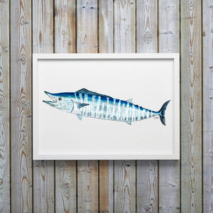 Wahoo Watercolor Art Print, Fish Wall Decor, Fish Print, Coastal Art