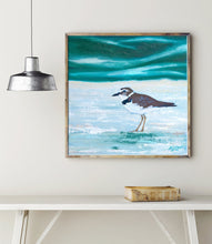 Load image into Gallery viewer, Plover Art Print, Bird Print, Wilson Plover Painting, Coastal Bird Art