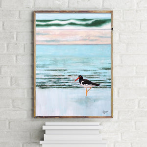 American Oystercatcher Print, Shorebird Art, Coastal Bird Art, Bird Prints, Beach House Decor