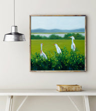 Load image into Gallery viewer, Egret Art Print, Egret Painting, Coastal Bird Art, Wildlife Art