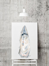 Load image into Gallery viewer, NEW Oyster Shell Fine Art Prints by Alexandra Nicole, Watercolor Oyster Art, Coastal Art, Title East Beach 2