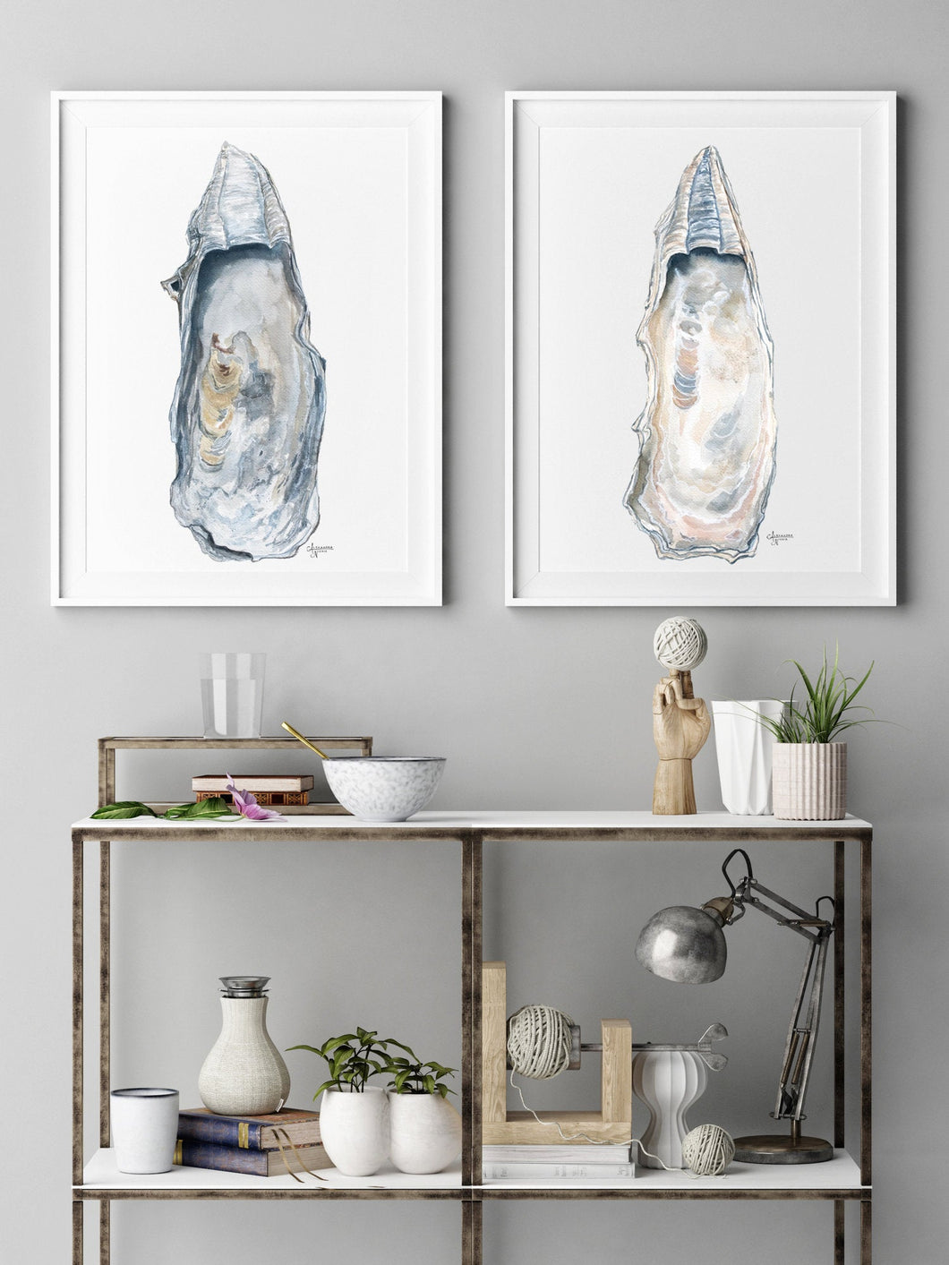 Discounted Fine Art Print Set of Two East Beach Oyster Shell, Gallery Wall Art